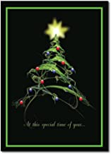 Christmas Holiday Greeting Card H6027. Stylized Christmas Tree and the
