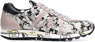 PREMIATA Women's LUCYD3318 Silver Leather Sneakers