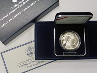 2001 P Commemorative Smithsonian American Buffalo Proof Silver Dollar $1 OGP US Mint