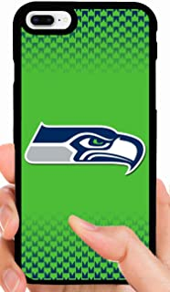 Seahawks Logo Green Glow Background with Pattern Football Phone Case Cover - Select Model (iPhone 5/5s)