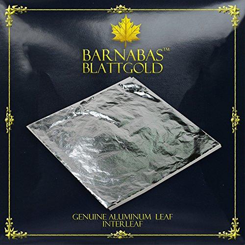 Imitation Silver Leaf Sheets - by Barnabas Blattgold - 100 Sheets - 16cm Interleaved