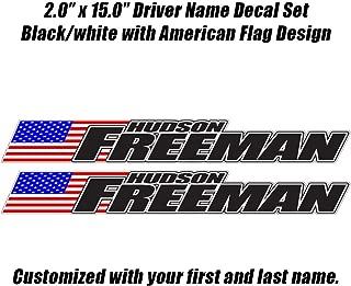 Race car Driver Name Decal Set - Late Model, Rallycross Rally Car, Dirt Car JDM