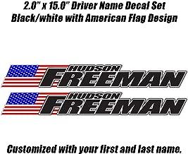 driver name sticker
