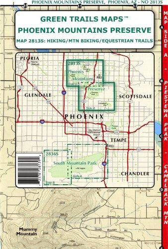 Phoenix Mountains Preserve (Hiking / Mountain Biking / Equestrian Trails, 2813S)