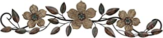Stratton Home Decor S01207 Floral Patterned Wood Over The Door Wall Decor, 37.99 W x 1.36..