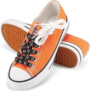 JENN ARDOR Women's Canvas Shoes Casual Sneakers Low Cut Lace Up Fashion Comfortable Walking Flats