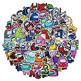 Among Stickers For Kids PVC Luggage Laptop Suitcase Car Skateboard Sticker Kawaii Cute Stikcers To DIY Stationery 100Pcs