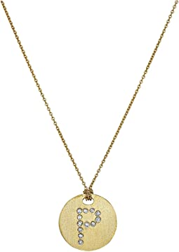Tiny Treasures 18K Yellow Gold Initial P Pendant Necklace