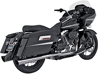 Vance and Hines Tapered Slash Cut Slip-On Exhaust for Harley Davidson 1995-2014 - One Size