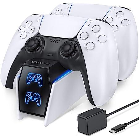 OIVO Base Ricarica PS5, 2H Rapida Caricatore Joystick PS5 conAdattatore di Alimentazione e Indicatore LED, Caricatore Controller PS5 per Sony Playstation 5 Wireless Controller