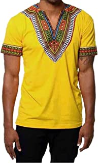 OrchidAmor Fashion Men's Gym Swag Comfy Slim Fit V Neck Printed Muscle Tee T-Shirt Casual Tops Blouse