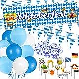 Oktoberfest Deko, Oktoberfest Banner, Oktoberfest Foto Requisit Banner, Oktoberfest Bayrisch Wiesn Dekoration, Oktoberfest Wimpel,Lustige Oktoberfest Spiel Lieferungen