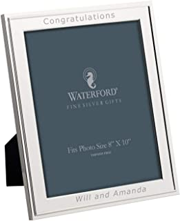Waterford Classic 8x10 Personalized Picture Frame, Engraved Frames, Custom Photo Frame