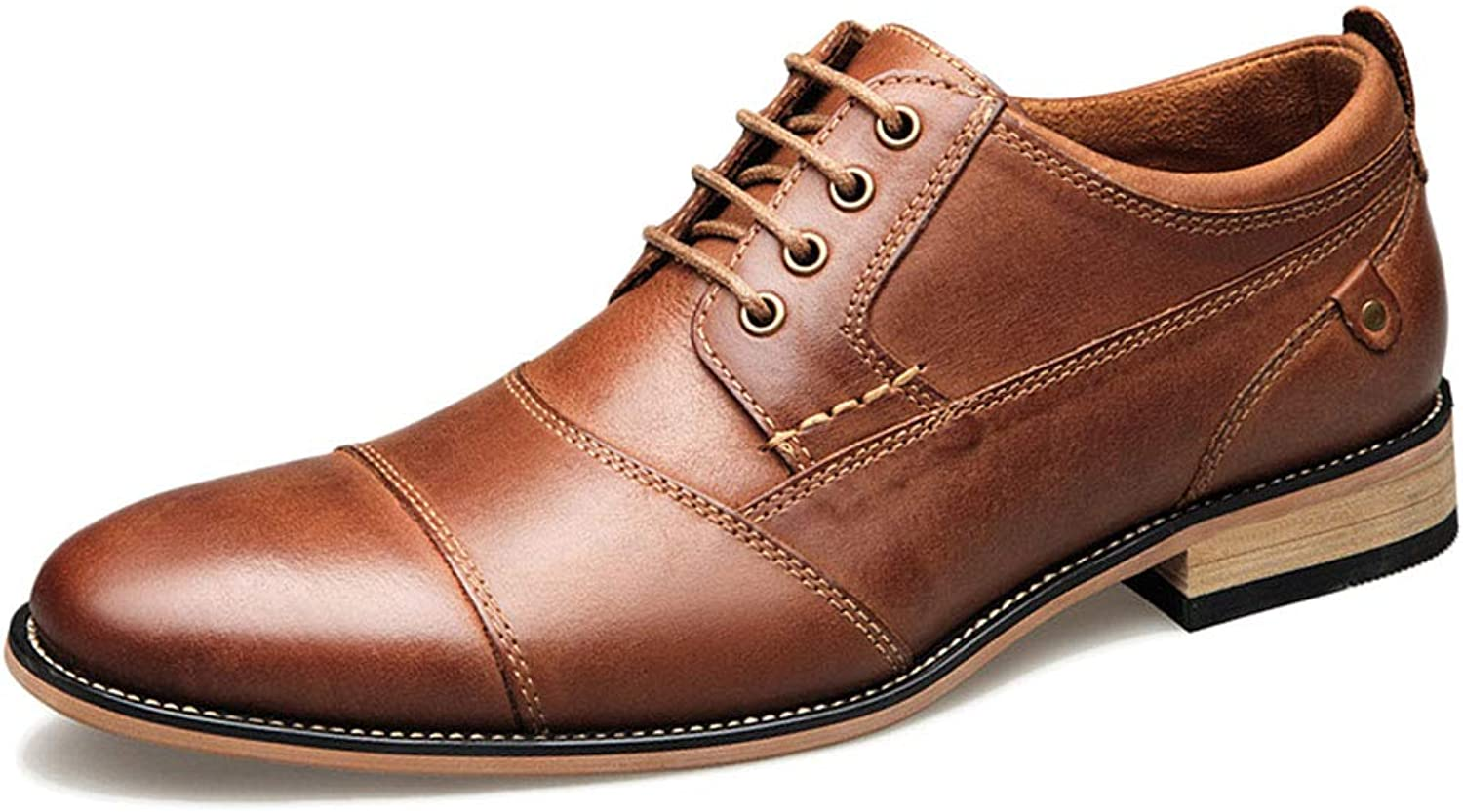 Dark Brown Leather Men's Dress Men's Leather shoes