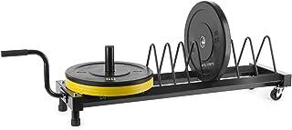 Capital Sports Plarak Jaula para Discos portátil 500 kg máx. (Soporte para Discos de Pesas, Siete segmentos, Ruedas fácil Transporte, almacenaje Pesos Profesional)