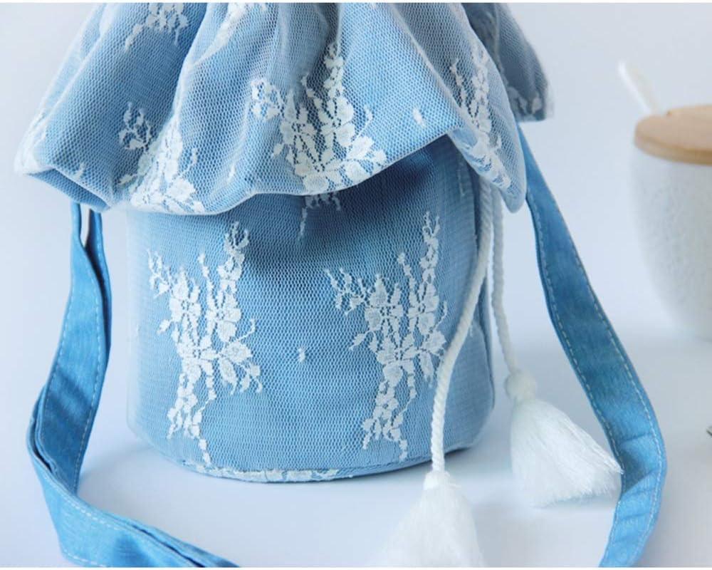 QXX Sac à Main en Dentelle pour Dames avec Sac à bandoulière et Sac à bandoulière (Color : Blue) Blue