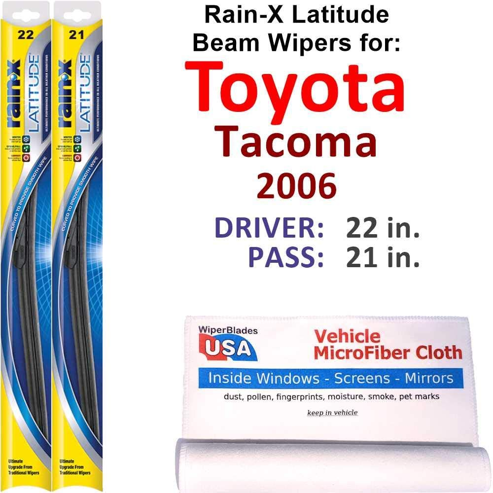 Rain-X Latitude Beam Wiper Blades for Rai Set Tacoma 2006 Toyota 2021new shipping All items in the store free