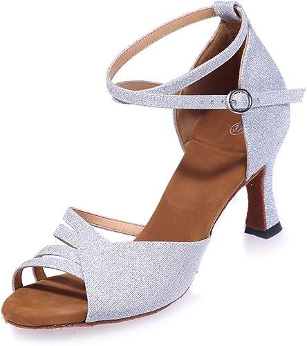 Peep Toes Glitter Chaussures De Danse pour Femmes Standard Salsa Jazz Latin Robe