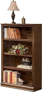Ashley Furniture Signature Design - Hamlyn Medium Bookcase - 3 Adjustable Shelves - Traditional - Medium Brown Finish