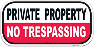 eSplanade Private Property Sign, No Trespassing Sign Sticker Decal - Easy to Mount Weather Resistant Long Lasting Ink (Siz...