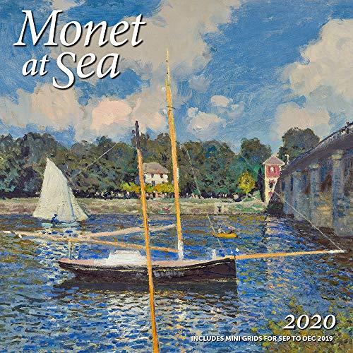 "Monet at Sea Wall Calendar 2020 Monthly January-December 12'' x 12"""