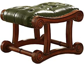 JSZMD European Small Sofa Bench,Living Room Side Stool American Shoe Bench 59 * 40 * 41cm (Color : Green)