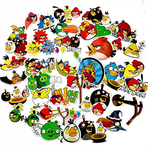 FENGLING Angry Red Birds Toy Sticker Forskateboard Guitarra Moto Equipaje Camión 50 Unids