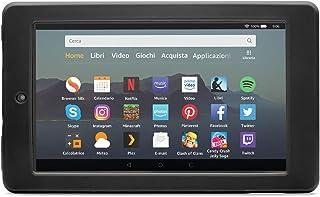 Nupro Custodia resistente agli urti per tablet Fire 7, colore: nero