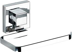 WENKO Vacuum-Loc® toiletpapierhouder Quadro roestvrij staal - wc-rolhouder, roestvrij staal, 14 x 6 x 11 cm, glanzend
