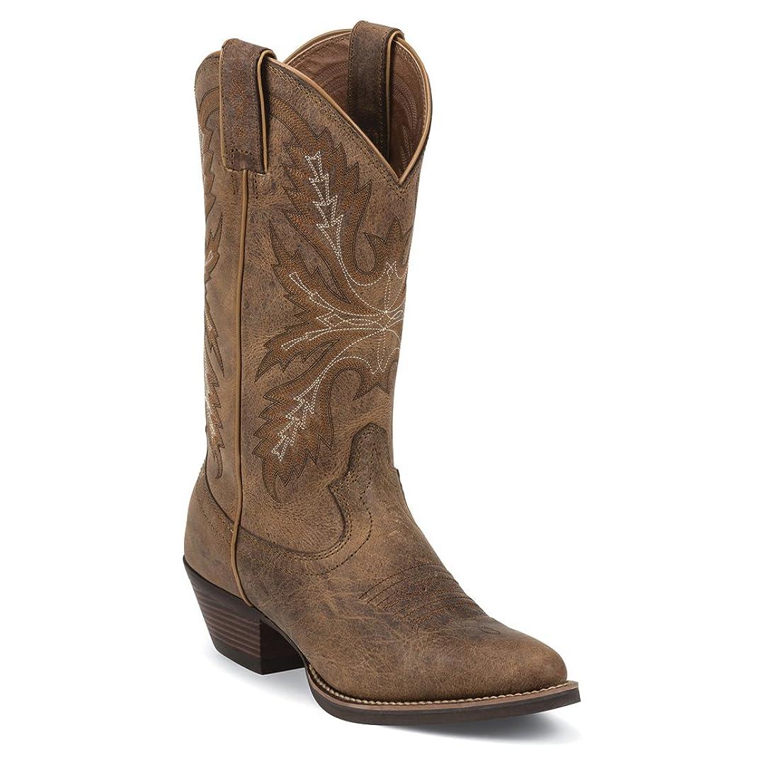 大統領ふさわしい動かない[Justin] Women 's PumaシルバーCowgirl Boot Round Toe