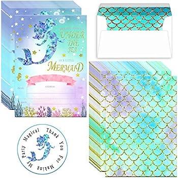 Best mermaid birthday invitations Reviews