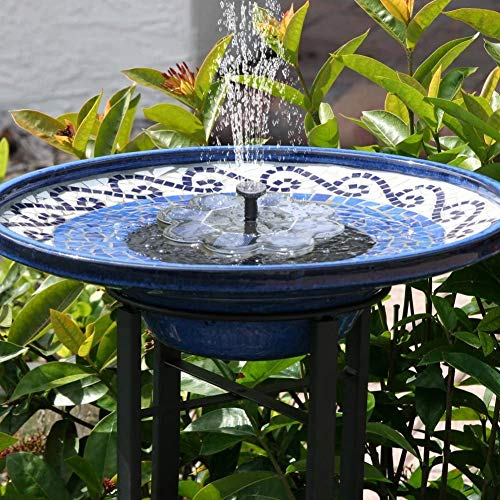 TekHome Solar Water Fountain, Solar Bird Bath Fountain, Solar Water Features for The Garden, Floating Solar Fountain, Solar Powered Water Feature,Solar Panel Water Pump for Pond/Pool.