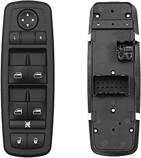 Master Power Window Switch Front Left Driver Side   3 PINS + 0 PIN   Replacement for 2008-2009 Chrysler Town & Country Dod...