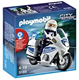 Playmobil 5185 City Action Police Motorbike   White/Blue