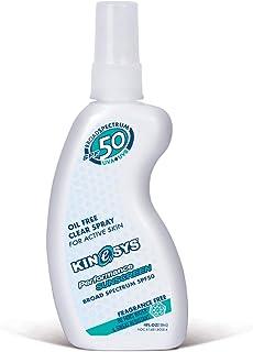 KINeSYS SPF 50 Fragrance Free Spray Sunscreen | Sensitive Skin, Vegan, Hypoallergenic, | Oil, Alcohol, Oxybenzone & Preser...