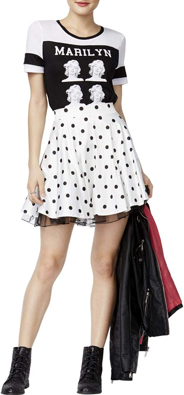 City Studio Womens Polka Dot ALine Skirt