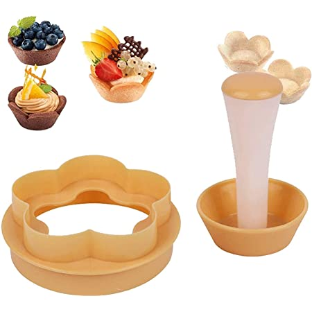 Pastry Dough Tamper Kit Creative Cake Cup Presser Cupcake Muffin Mold Shell Molds for Cake Decorating 1 Set