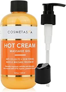Hot Cream Massage Gel: Anti- Cellulite, Skin Tightening, Toning & Muscle and Joint Pain Relief Jelly 100% Natural, 87% Organic, Cruelty Free (Hot Cream Massage Gel)