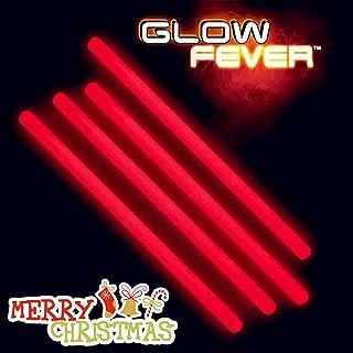 Glow Fever Bulk Glow in The Dark 50ct 10'' Jumbo Glow Sticks, for Party Supplies Festivals Raves Birthday Wedding, Red