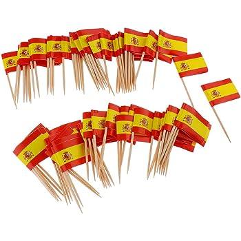 Compra guojiwu 100pcs Mini Palillo De Dientes Bandera España Bandera De La Torta De Recogida Eventos Internacional Palillo De Cóctel Bandera De La Fruta del Alimento Recogida en Amazon.es