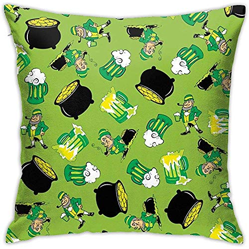 Gjiesh St. Patrick 's Day Party Dekokissen Abdeckung Dekokissen Fall Platz Dekorative Double Side Design 45x45 cm Familie Indoor Sofa Auto