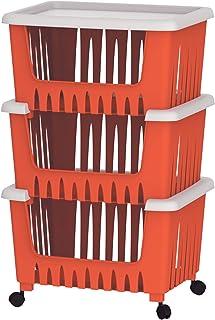 Cosmoplast 3 Drawer Multipurpose Storage Rack - Red
