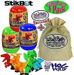 1. StikBot Dinosaur Mystery Egg Figures (3 pack)