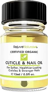 USDA Organic Cuticle Oil for Softer, Healthier Cuticles & Stronger Nails. Moisturizing & Healing Organic Jojoba, Olive, Camellia & Vitamin E Oils. For Peeling Cuticles, Splitting Nails & Cracked Skin.