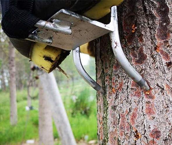 TREES Anti-Dérapantes Climbing Spikes,Chaussures d'escalade,4 Griffes Multifonctionnel Chaussures De Grimper,Simple à Utiliser
