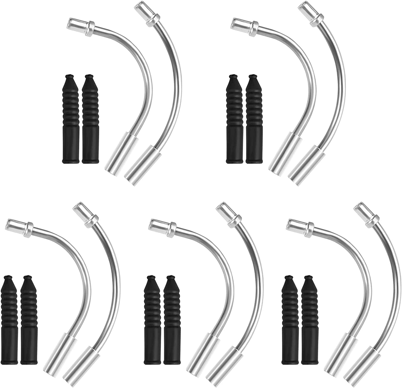 Seattle Mall Max 54% OFF Dokpav 20Pcs Bike V Brake Noodles Tube Bend Cable Guide 90 Pipe