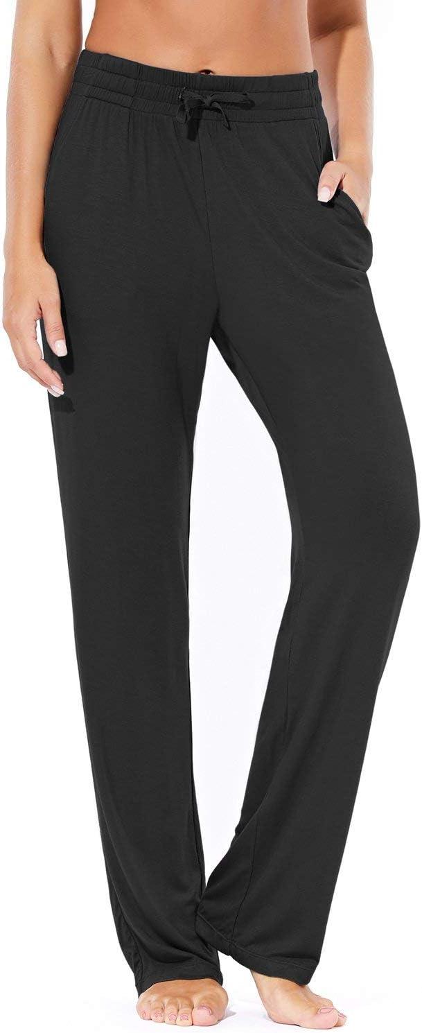 BALEAF Women's Comfy Pajamas Pants Gorgeous Lightweight Memphis Mall Straight Leg Wide
