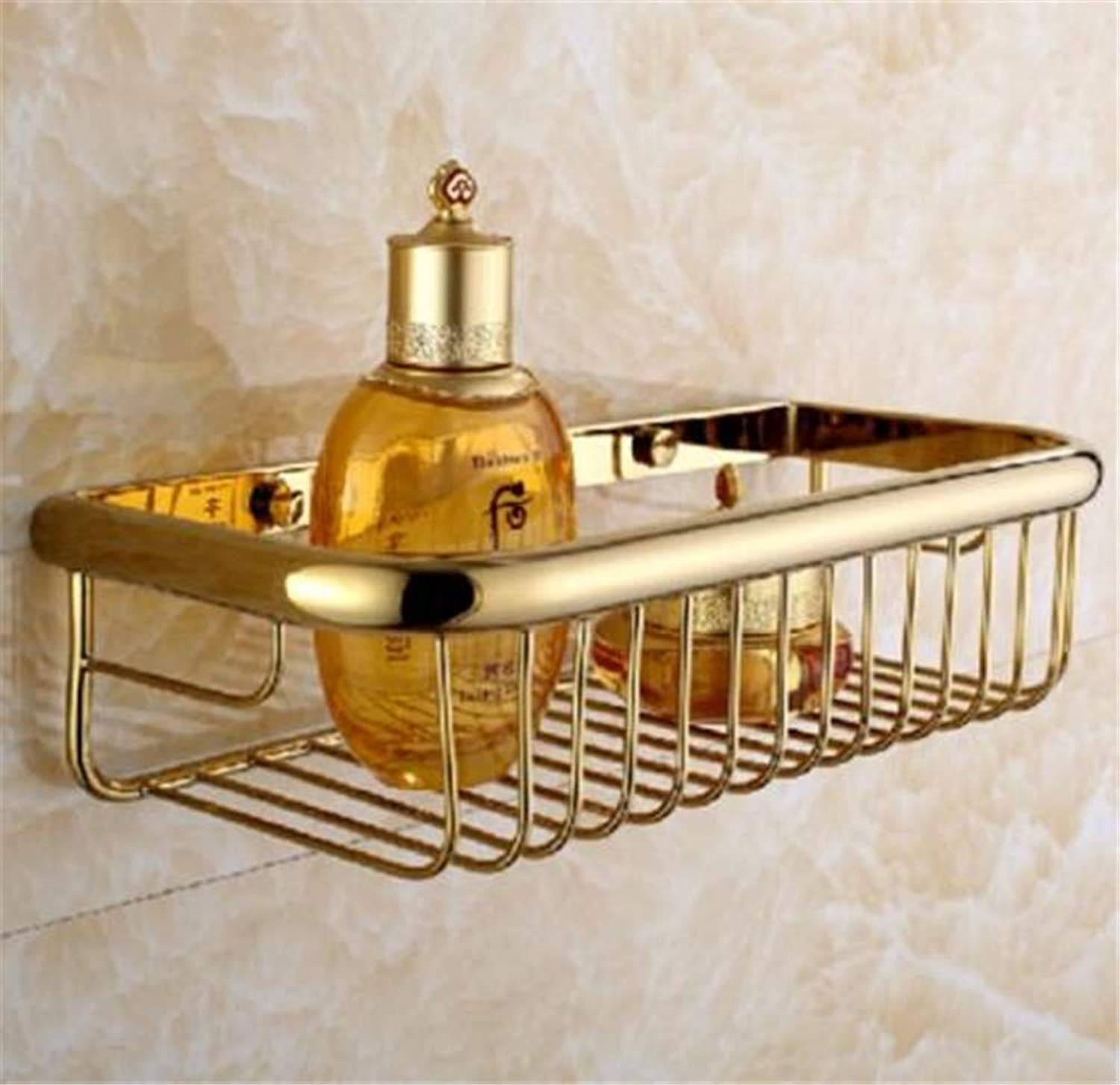 LUDSUY Antique Solid Brass Bathroom Hardware Sets gold Polished Bathroom Accessories Wall Mounted Crystal Bathroom Products,I