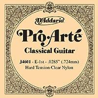 【 並行輸入品 】 D'Addario (ダダリオ) J4601 Pro-Arte ナイロン クラシックギター シングルストリング, Hard Tension, First String