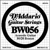 D'Addario ダダリオ アコースティックギター用バラ弦 80/20ブロンズ .056 BW056 【国内正規品】